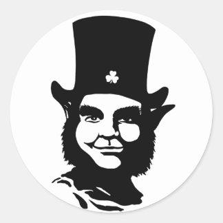 Iconic Leprechaun Classic Round Sticker
