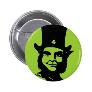 Iconic Leprechaun Pinback Buttons