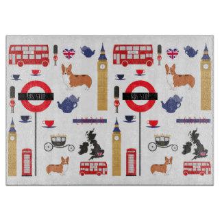 Iconic London Decorative Glass Cutting Board