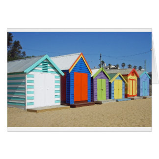 Iconic Melbourne Beach Box Hut Card