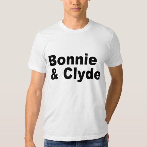 iconic names bonnie and clyde t shirt zazzle. Black Bedroom Furniture Sets. Home Design Ideas