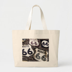 Iconic Route 66 Large Tote Bag