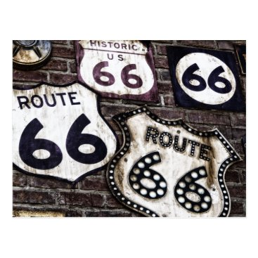 SpaceChimpOriginals Iconic Route 66 Postcard