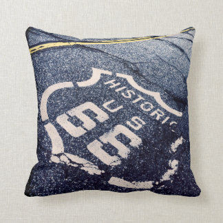 Iconic Route 66 Throw Pillow