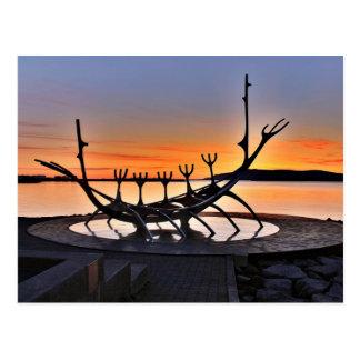 Iconic Sculpture of Reykjavík, Iceland Postcard