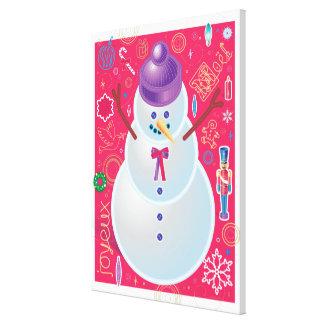 Iconic Snowman Canvas Print