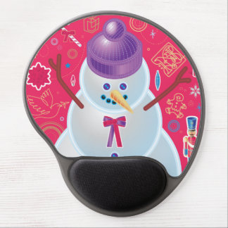 Iconic Snowman Gel Mouse Pad