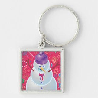 Iconic Snowman Keychain