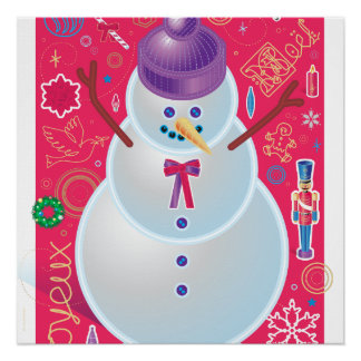 Iconic Snowman Poster