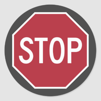 Iconic STOP Sign Stickers