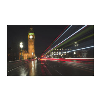 Iconic Time Lapse Photograph of Big Ben Canvas Print