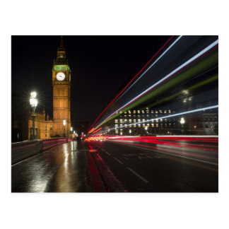 Iconic Time Lapse Photograph of Big Ben Postcard