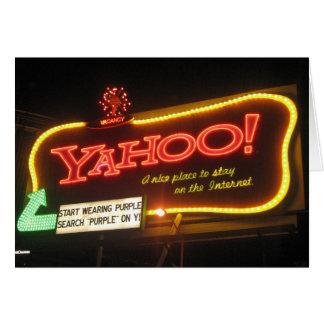 Iconic Yahoo! Billboard in San Francisco Card