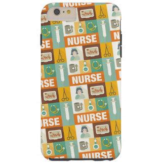 Icónico profesional de la enfermera diseñado funda para iPhone 6 plus tough