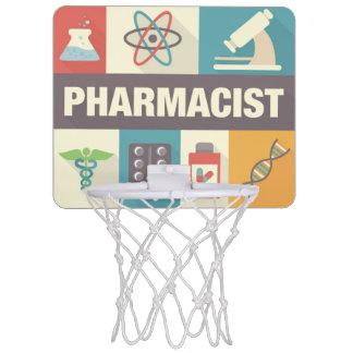 Icónico profesional del farmacéutico diseñado canasta mini