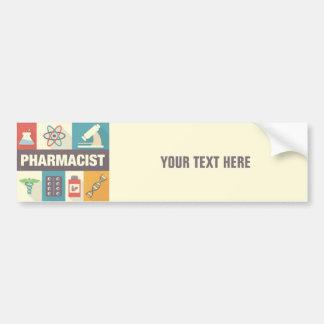 Icónico profesional del farmacéutico diseñado pegatina para auto