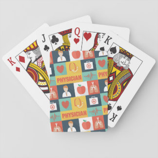 Icónico profesional del médico diseñado baraja de cartas