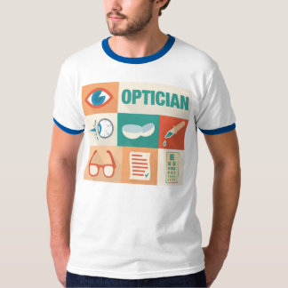 Icónico profesional del óptico diseñado playeras