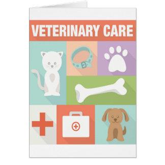 Icónico veterinario profesional diseñado tarjeta de felicitación
