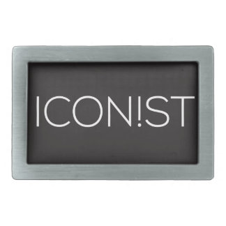 ICONIST Dot Logo Rectangular Belt Buckle