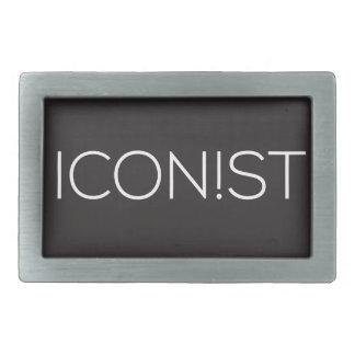 ICONIST Dot Logo Rectangular Belt Buckle