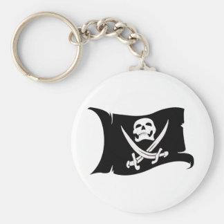 Icono #10 del Bandera-Pirata que agita Llavero Personalizado
