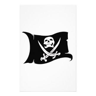Icono #10 del Bandera-Pirata que agita Papelería De Diseño