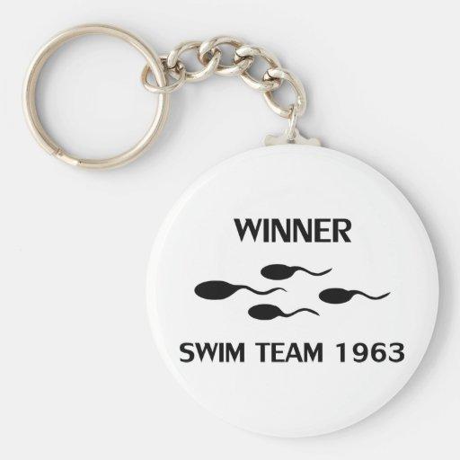 icono 1963 del equipo de natación del ganador llavero