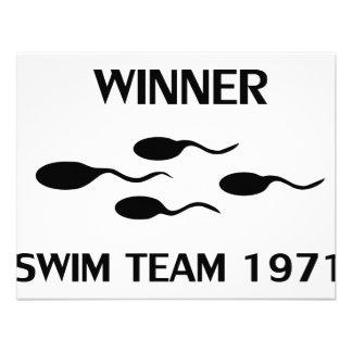 icono 1971 del equipo de natación del ganador comunicado