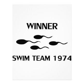 icono 1974 del equipo de natación del ganador membrete