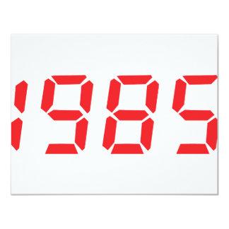 """icono 1985 del rojo invitación 4.25"""" x 5.5"""""""