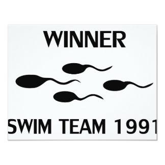 icono 1991 del equipo de natación del ganador comunicados personales