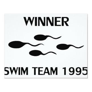 icono 1995 del equipo de natación del ganador invitación personalizada