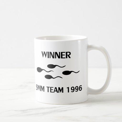 icono 1996 del equipo de natación del ganador tazas de café