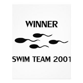 icono 2001 del equipo de natación del ganador membrete a diseño