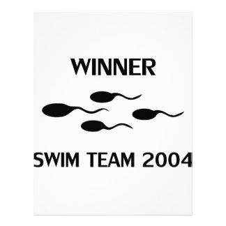 icono 2004 del equipo de natación del ganador plantilla de membrete