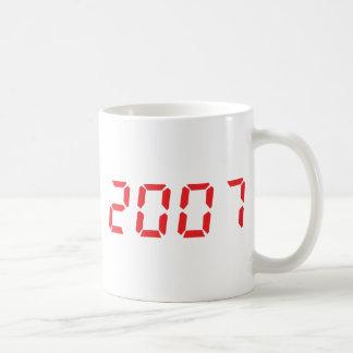 icono 2007 del rojo taza