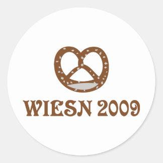 icono 2009 del brezel del wiesn pegatina redonda