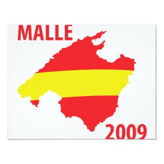 """icono 2009 del contorno del malle invitación 4.25"""" x 5.5"""""""
