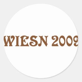 icono 2009 del wiesn etiqueta redonda