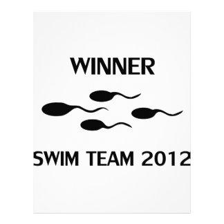 icono 2012 del equipo de natación del ganador membretes personalizados