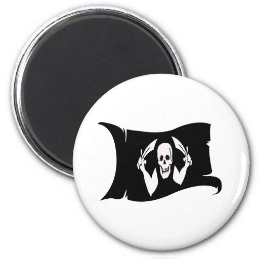 Icono #4 del Bandera-Pirata que agita Imán Para Frigorífico