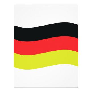 icono alemán de la bandera tarjeton