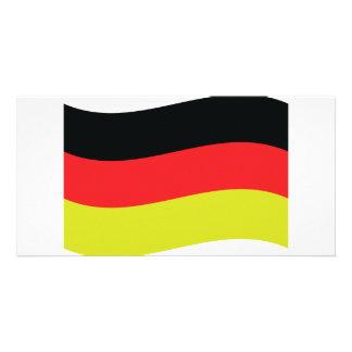 icono alemán de la bandera tarjeta personal con foto