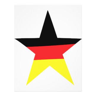 icono alemán de la estrella tarjetas informativas