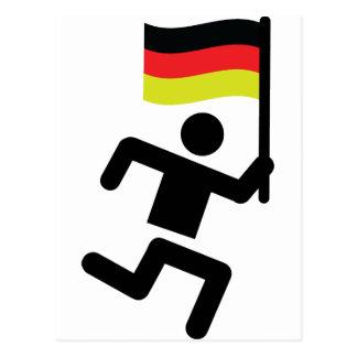 icono alemán del corredor tarjetas postales