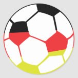 icono alemán del fútbol etiqueta redonda