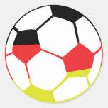 icono alemán del fútbol pegatina redonda