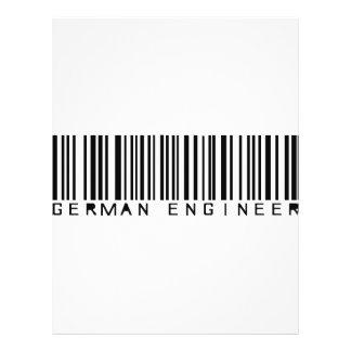 icono alemán del ingeniero tarjetón