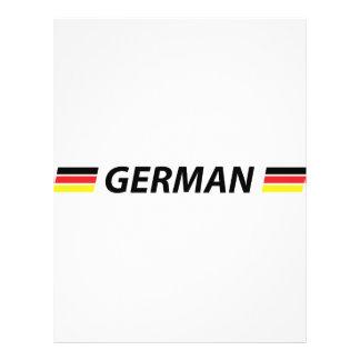 icono alemán tarjeta publicitaria